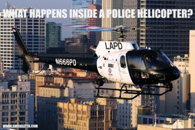 What happens inside a police helicopter?