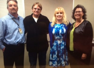 Some of the participants in the Cold Case investigative Research Institute as they assembled evidence to launch their investigation of the Kait Arquette murder: Dr. Duanne Thompson, weapons expert; Kait's brother Donnie Arquette (representing our family); TV Legal Analyst Holly Hughes; Sheryl McCollum, Director of CCIRI